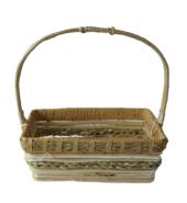 Cane Basket Beige & White