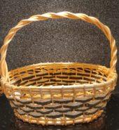 Cane Basket White & Brown